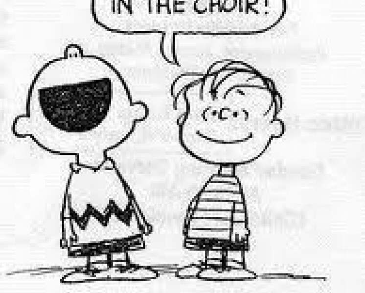 Happiness is singing in the choir