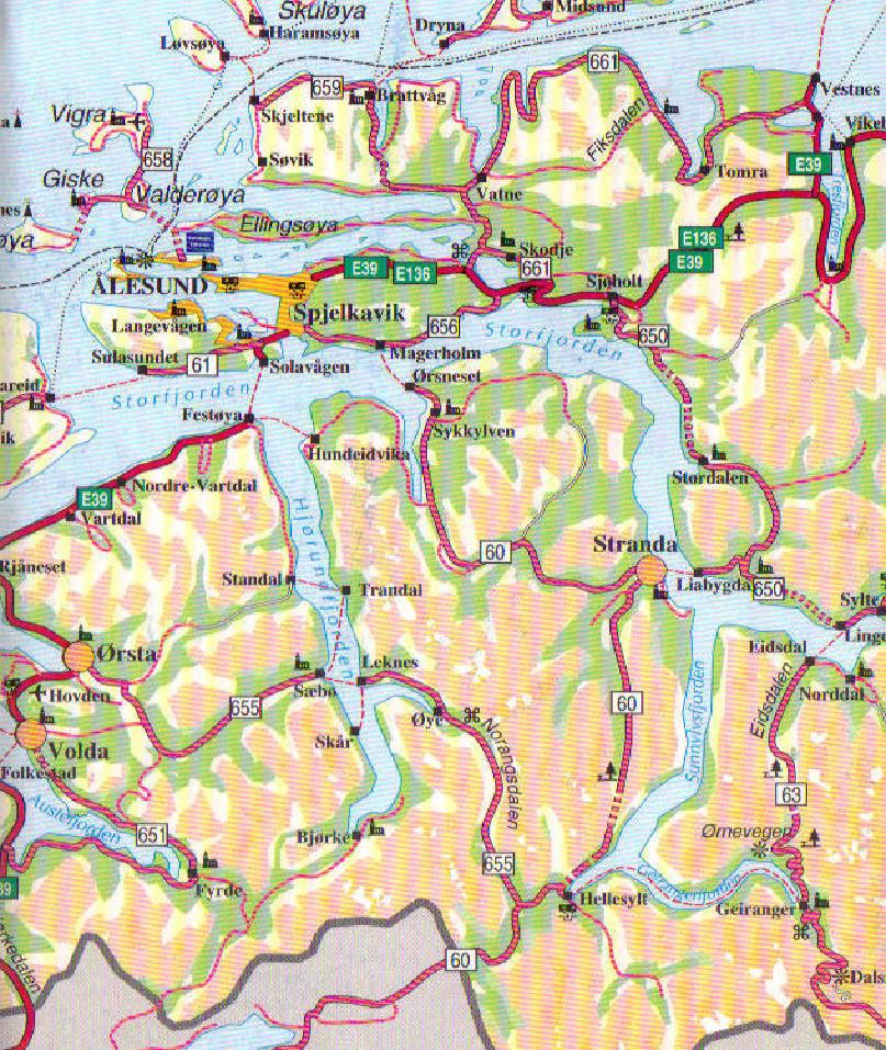 kart over hjørundfjorden Hjørundfjord og Norangsfjord   Hjørundfjordportalen kart over hjørundfjorden